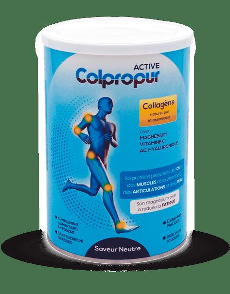 Colpropur ACTIVE pour prendre soin chaque jour de vos articulations, muscles, os, dents et peau.