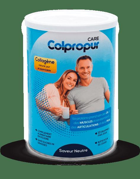 Colpropur CARE pour prendre soin chaque jour de vos articulations, muscles, os, dents et peau.