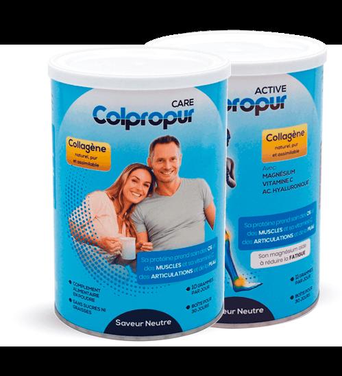 Colpropur, à base de collagène, pour prendre soin chaque jour de vos articulations, muscles, os, dents et peau.